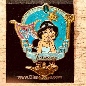 Jasmine from Aladdin with dangling lamp Disney pin